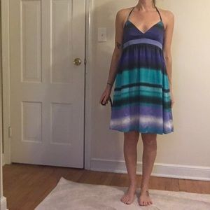 H&M sundress, size 6, blue, green, white, black